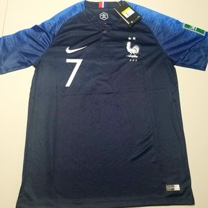 reputable site fb9e7 1da95 New 2 Stars France World Cup Jersey Griezmann NWT